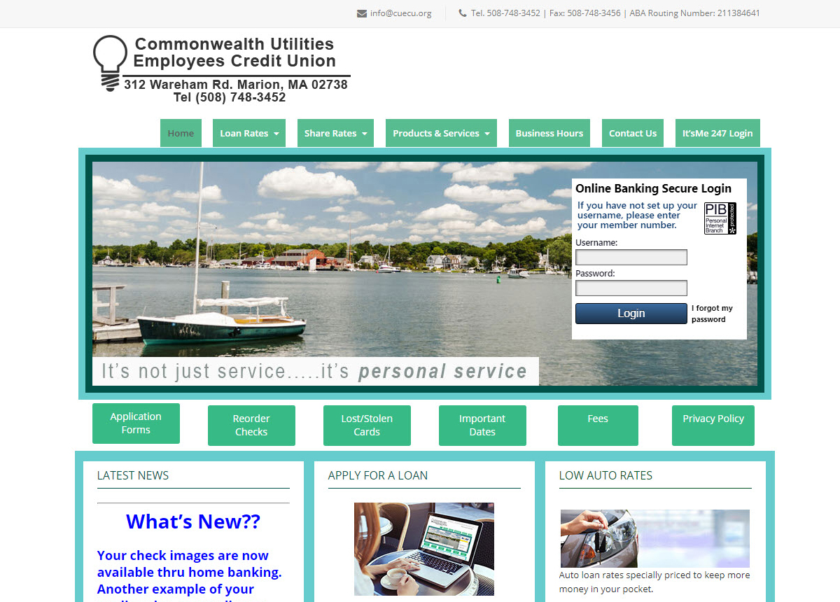 Utilities Employees Credit Union >> Mateus Web Design Commonwealth Utilities Employees Cu
